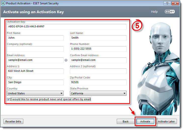 KB2792 Activate my ESET Windows home product using my ...