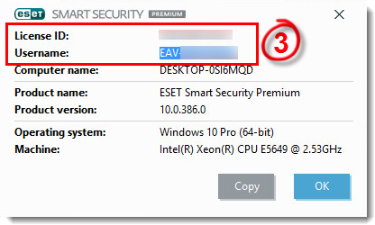 Kb2822 Locate My Eset Username In The Program Settings To Contact Technical Support