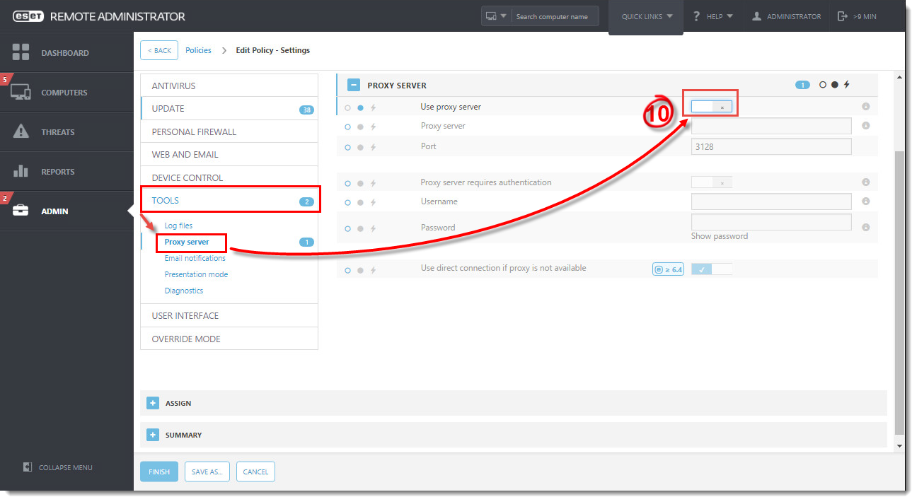 Disable Apache HTTP Proxy when modules updates fail in ESET