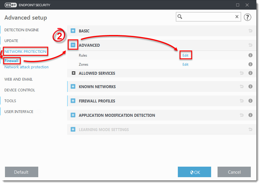 Create or edit firewall rules for client workstations in ...