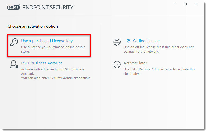 Kb7254 Activate Eset Endpoint Products 7 X And Later