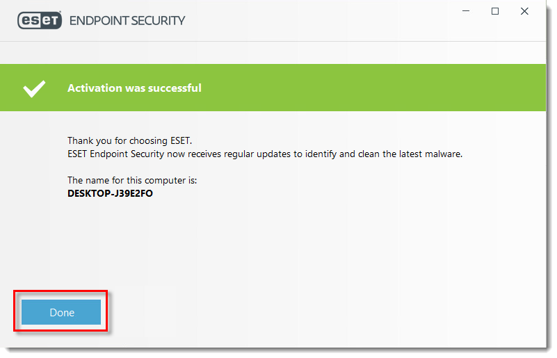 KB7254 Activate ESET endpoint products (7.x)