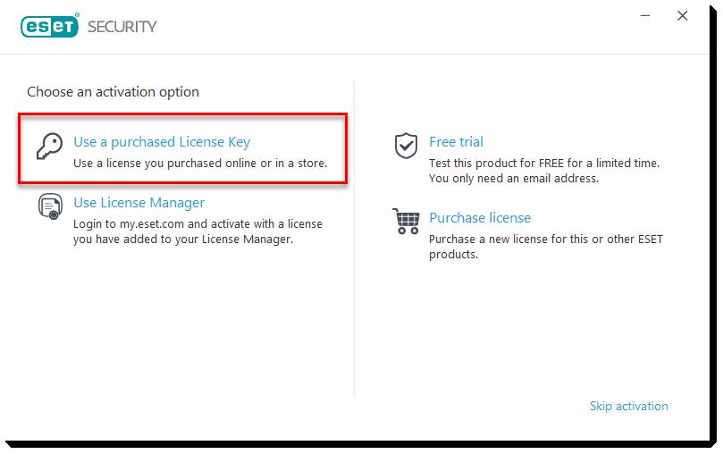 KB3418 Download and install ESET NOD32 Antivirus