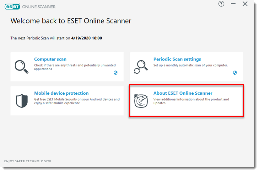 free eset online scanner for android